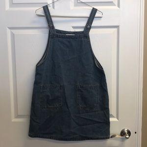 Hayden overall blue jean mini dress